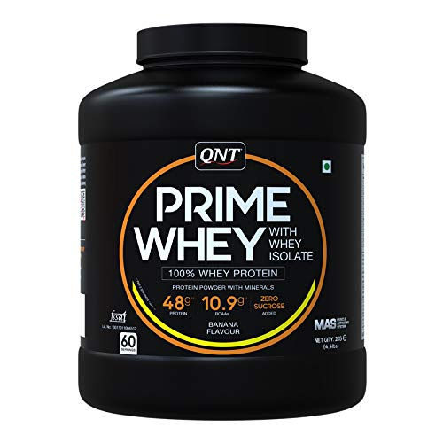 QNT Prime Whey Protein Whey Isolate Banana Flavour 2 KG