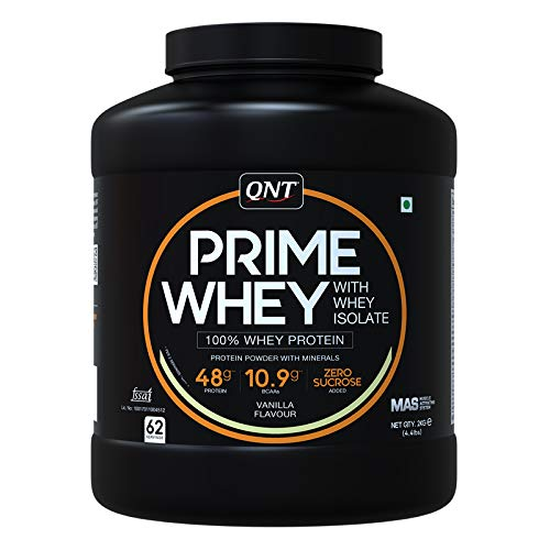 QNT Prime Whey Protein Whey Isolate Vanilla Flavour 2 KG