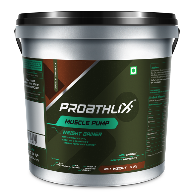 Proathlix Muscle Pump Weight Gainer Double Chocolate Flavor 5Kg